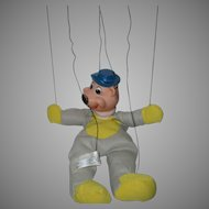 """A Vintage 1962 """"Yogi Bear"""" Hand Control Marionette Puppet by Knickerbocker Toys"""