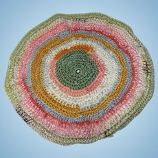 Vintage Crochet Round Rug For Your Doll House.