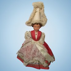 Vintage Doll In Regional Outfit.