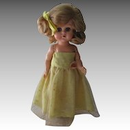 Vintage Lace And Silk Type Material Dress For Your Ginny Doll