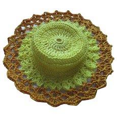 Vintage Crochet Doll Hat