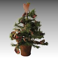 Vintage Christmas Tree For Your Doll House