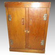 Vintage Ginny Wooden and Cardboard Clothes Cabinet