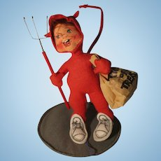 Vintage Devil Trick Or Treat Doll