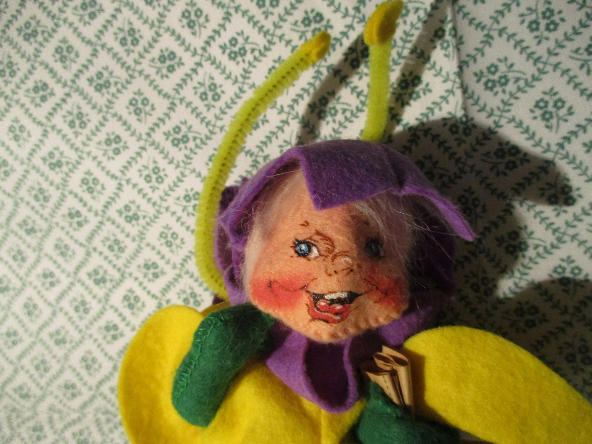 Vintage Annalee Bumble Bee Halloween Tick Or Treat Doll