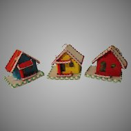 Vintage Japan Cardboard Christmas Houses