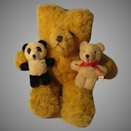 Group of 3 Vintage Mohair Bears
