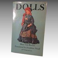 Dolls Book By Max von Boehn