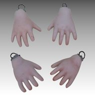 Vintage Bisque Doll Hands 2 Pairs.
