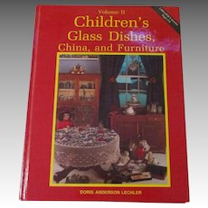 Children's Glass Dishes, China, and Furniture Book By Doris Anderson Lechler