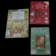 Vintage Peter Rabbit Activity Books By Beatrix Potter
