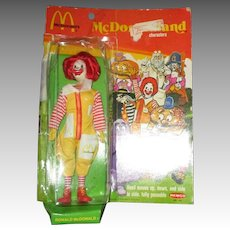 Vintage Ronald McDonald Doll By Remco In Original Box.
