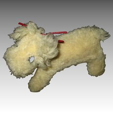 Vintage Wool Dog For Your Doll