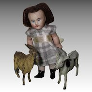 Antique Bisque Doll With Her Friends
