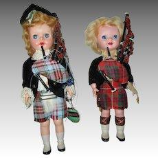Vintage Scottish Hard Plastic Dolls