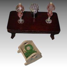 Vintage Miniature Doll House Items