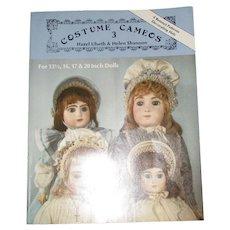 Costume Cameos 3 Doll Bonnet Patterns By Hazel Ulseth & Helen Shannon