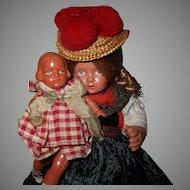 Vintage 2 Celluloid Dolls