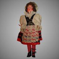 Vintage Regional Doll in Original outfit.