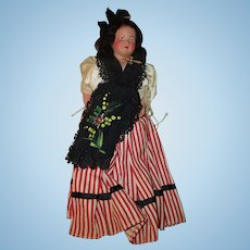 Antique  Celluloid Doll in Regional Outfit