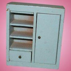 Vintage Wooden Miniature Dollhouse Cabinet