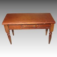 Vintage Wooden Table For Your Dollhouse