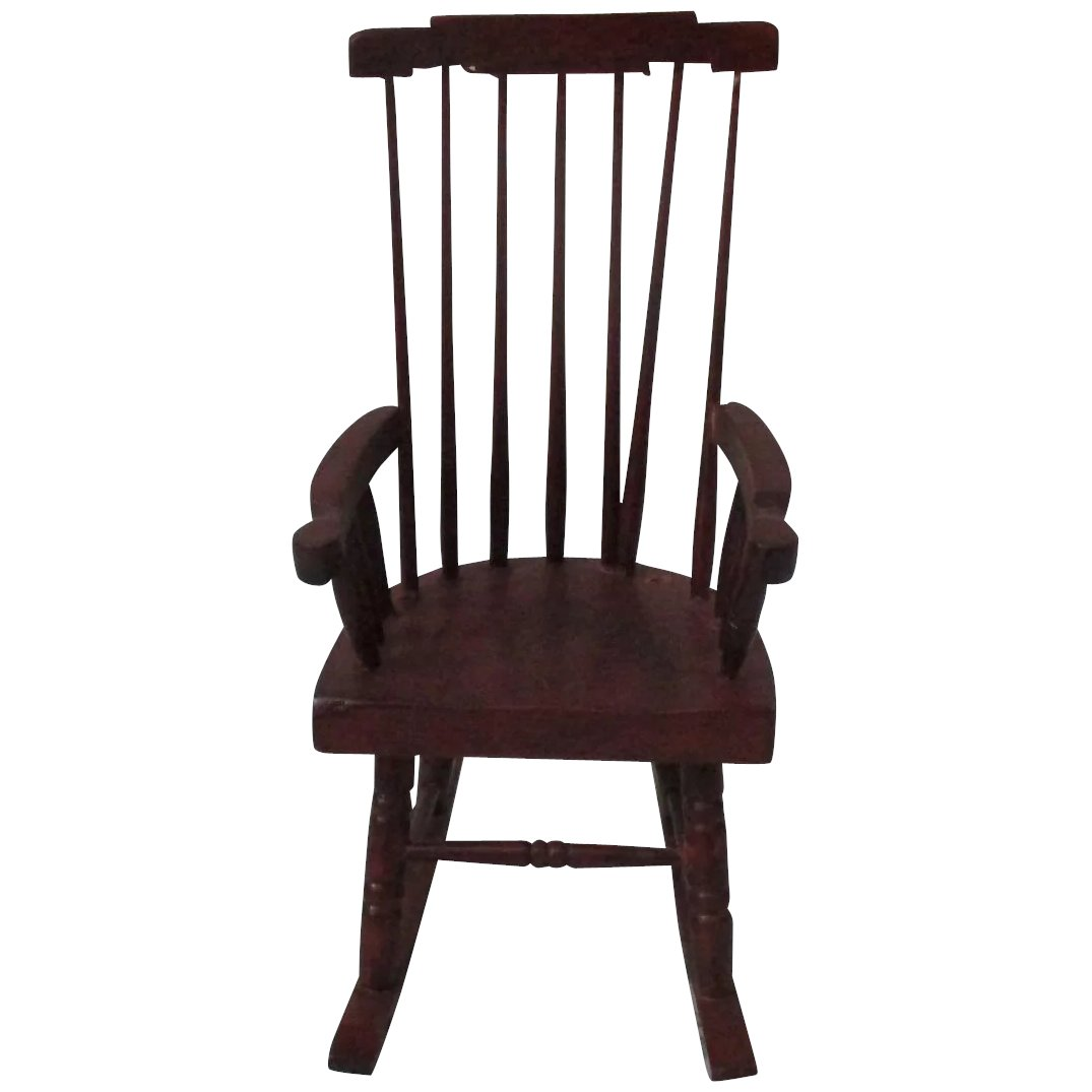 Awesome Vintage Wooden Dollhouse Rocking Chair Ncnpc Chair Design For Home Ncnpcorg