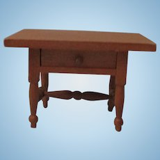 Vintage Wooden Doll House End Table For Your Doll House.