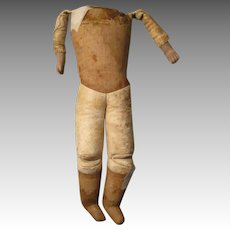 Antique Cloth and Leather Doll Body