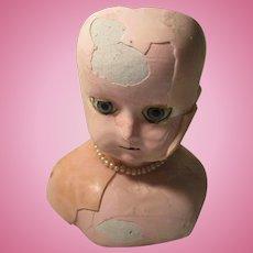 Antique Wax Doll Head For Repair