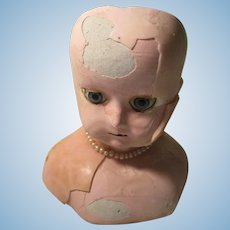 Antique Wax Doll Head For Repair
