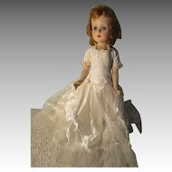 Vintage Sweet Sue Walker Doll In Beautiful Wedding Dress