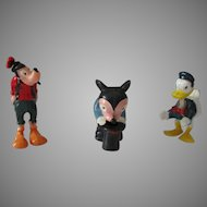 Vintage Hard Plastic Disney Nodders