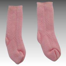 Vintage Pink Socks For Your Doll