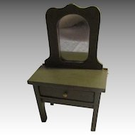 Green Wooden Dresser For Your Miniature Dollhouse.