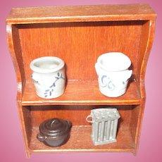 Vintage Wooden Shelf For Your Miniature Dollhouse