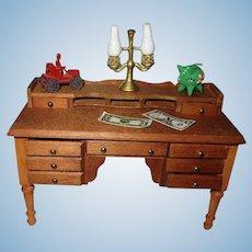 Vintage Wooden Desk For Your Miniature Dollhouse