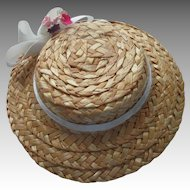 Vintage Straw Hat For Your Doll 1900's Style