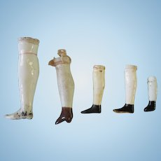 Antique Single China Doll Legs