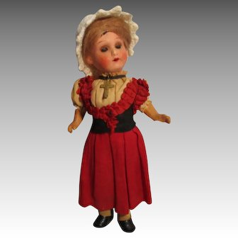 Small Antique German Doll