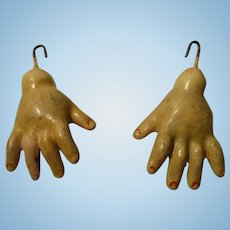 Antique Composition Doll Hands For Your Doll