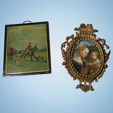 Two Vintage Pictures for Your Miniature Dollhouse.