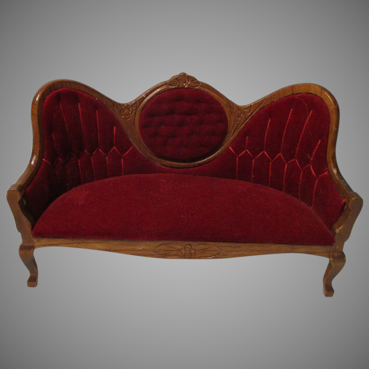 Admirable Vintage Victorian Style Couch For Your Miniature Dollhouse Camellatalisay Diy Chair Ideas Camellatalisaycom