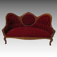 Vintage Victorian Style Couch For Your Miniature Dollhouse.