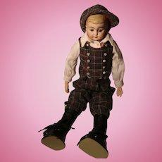 Antique German American School Boy Doll
