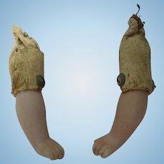 Antique Bisque and Leather Arms For Your Doll