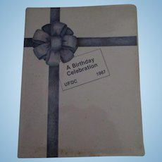 1987 UFDC Convention Book A Birthday Celebration