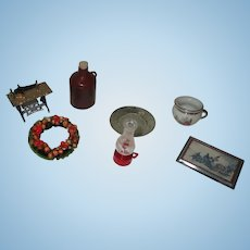 Vintage assorted Items For Your Miniature Dollhouse