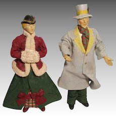 Vintage Paper Mache and Hard Plastic Christmas Singers.