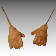 Vintage Composition Doll Hands